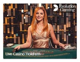 Live Casino Holdem pokeri