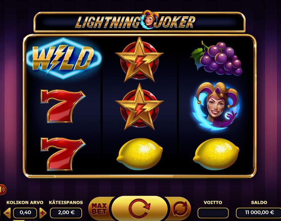 Lightning Joker kolikkopeli